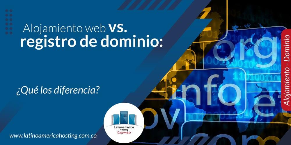 Alojamiento web registro de dominio